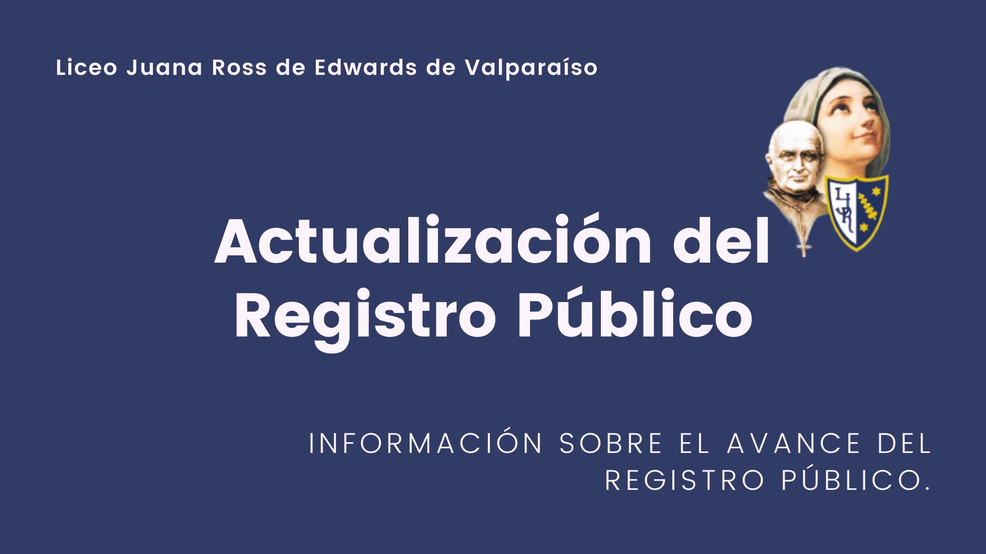 Actualización del Registro Público – LJR
