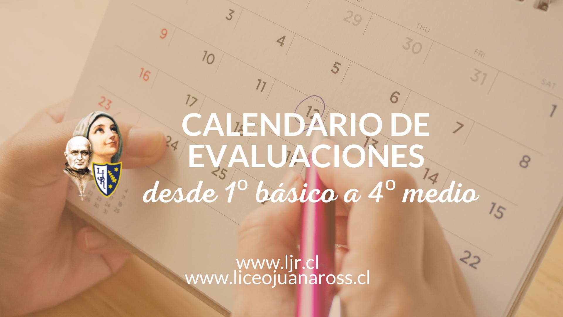 Calendario de Evaluación – LJR
